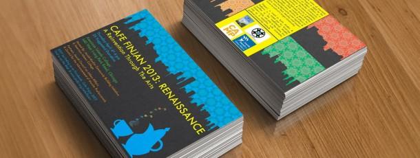 Postcard Design: Cafe Finjan